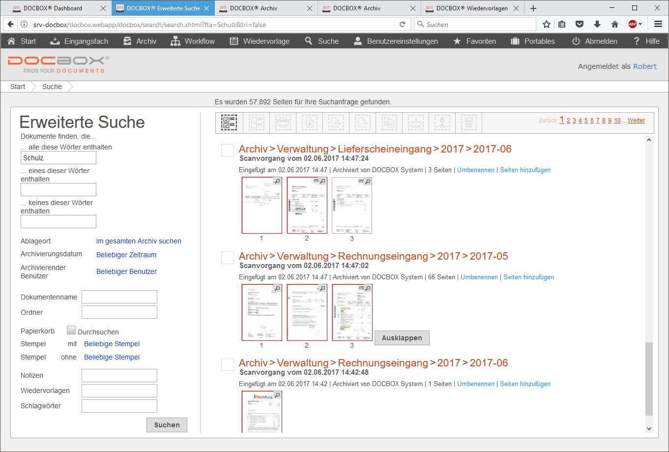 DOCBOX® Digitale Archivierung und Dokumentenmanagementsystem
